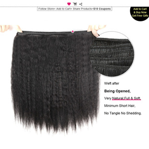 Image 4 - Tissage en lot indien naturel Non Remy Yaki Ishow Hair, cheveux humains, lisses, 8 28 pouces, livraison gratuite