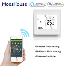 Temperature-Controller Tuya Water-Gas-Boiler Floor Heating Smart-Wifi Electric Google