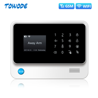 Towode G90B Plus WiFi GPRS 2G GSM Autodial Security Alarm System APP Control PIR Detector Door Sensor Alarm Host