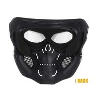 Halloween Skull Airsoft Mask Skeleton Airsoft Paintball Silver Black Cool Skull Half Face Masks For Game Party Sports Hunting