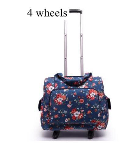Vrouwen bagage koffer op wielen Reizen trolley Bagage tas 20 Inch wielen zakken Laptop Business Travel trolley spinner koffer-in Trolley van Bagage & Tassen op  Groep 1
