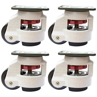 4 Piece Conditioner Casters, Wheels and Rubber Casters, Retractable Table Casters