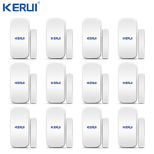 Kerui détecteur douverture de porte et fenêtre sans fil D025, 12 pièces, pour système dalarme domestique, clavier tactile, batterie incluse, vente en gros