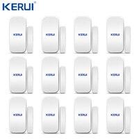 Venta al por mayor 12 Uds Kerui D025 inalámbrica detector puerta ventana Gap Sensor para alarma de casa Sistema teclado táctil batería incluida sensor sensor sensor for alarm sensor wireless -