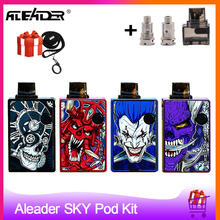 Aleader SKY Pod Vape Kit 1000mAh Battery With 2.5ml Pod Cartridge Vape Pen Electronci cigarette vs DRAG Nano / Tesla Punk Pod