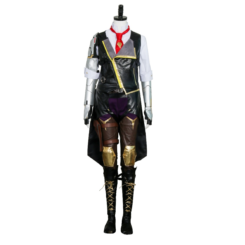Hero Ashe Cosplay Costumes for Adult Women for Game Overwatch OW Elizabeth Caledonia Ashe Full Suit Halloween Cosplay Set 4