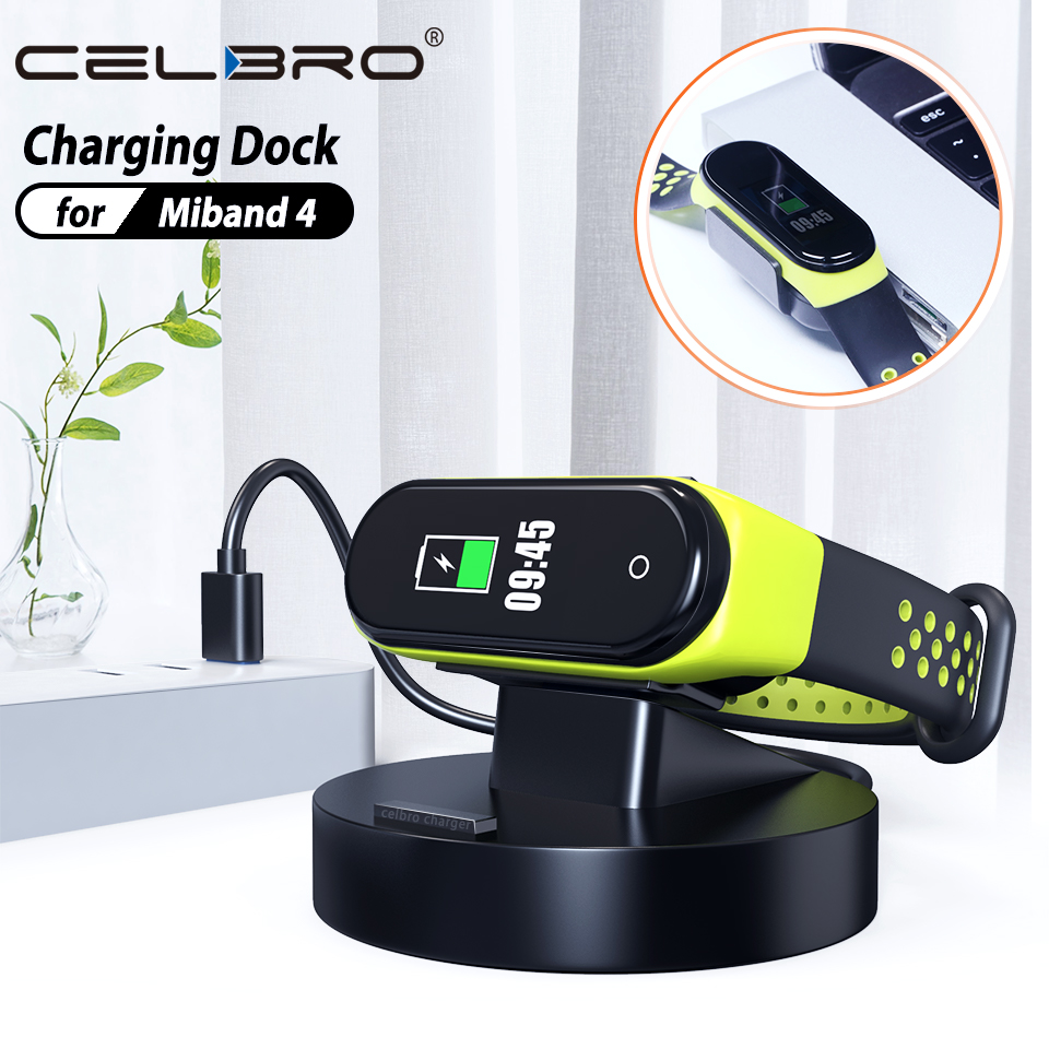 Portable USB Charger for Xiaomi Mi Band 4 Miband 4 Charging Dock Fast Charger Cable for Xiaomi Mi Band 4 Charger Adapter Station(China)