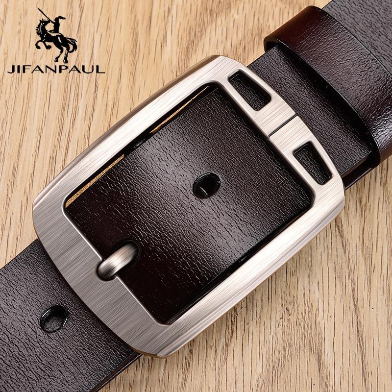 JIFANPAUL Authentic Men's High Quality Belt Classic Designer Advanced Retro Pin Buckle Men Leather Fashion Business Formal Belt
