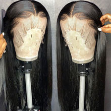 Long Straight Glueless Full Lace Wigs Human Hair With Baby Hair Brazilian Remy 8-26inch Bleached Knots(China)