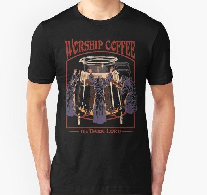 Maglietta da uomo culto caffè THE DARK LORD maglietta Unisex maglietta da donna maglietta top