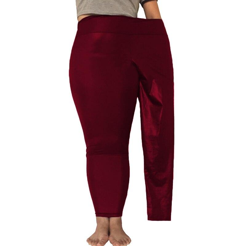 High Waist Imitation Leather Pants Leggings Fat MM Stretch Large Size Pants 5XL Large Size Bottoming Pants