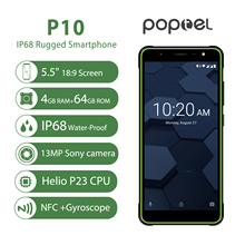 Global version Poptel P10  rugged smartphone 5.5 inch octa core android 8.1 4GB+64GB NFC unlocked phones cost effective phone