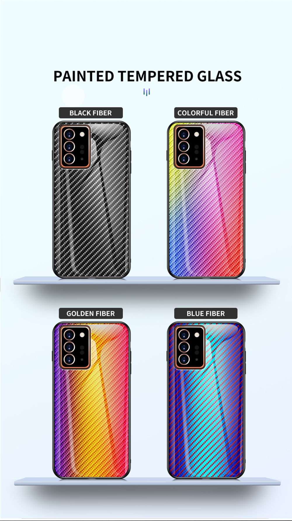 XUANYAO Case Cover For Samsung Galaxy Note 20 Plus Case Glass Hard Cover For Samsung Galaxy Note 20 Ultra Case Slim Carbon Fiber (5)