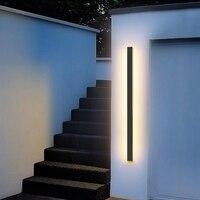 Outdoor Wand Licht LED Wasserdichte wand lampe IP65 Aluminium Lange Outdoor Wand Licht Für Garten Villa veranda Licht Leuchte