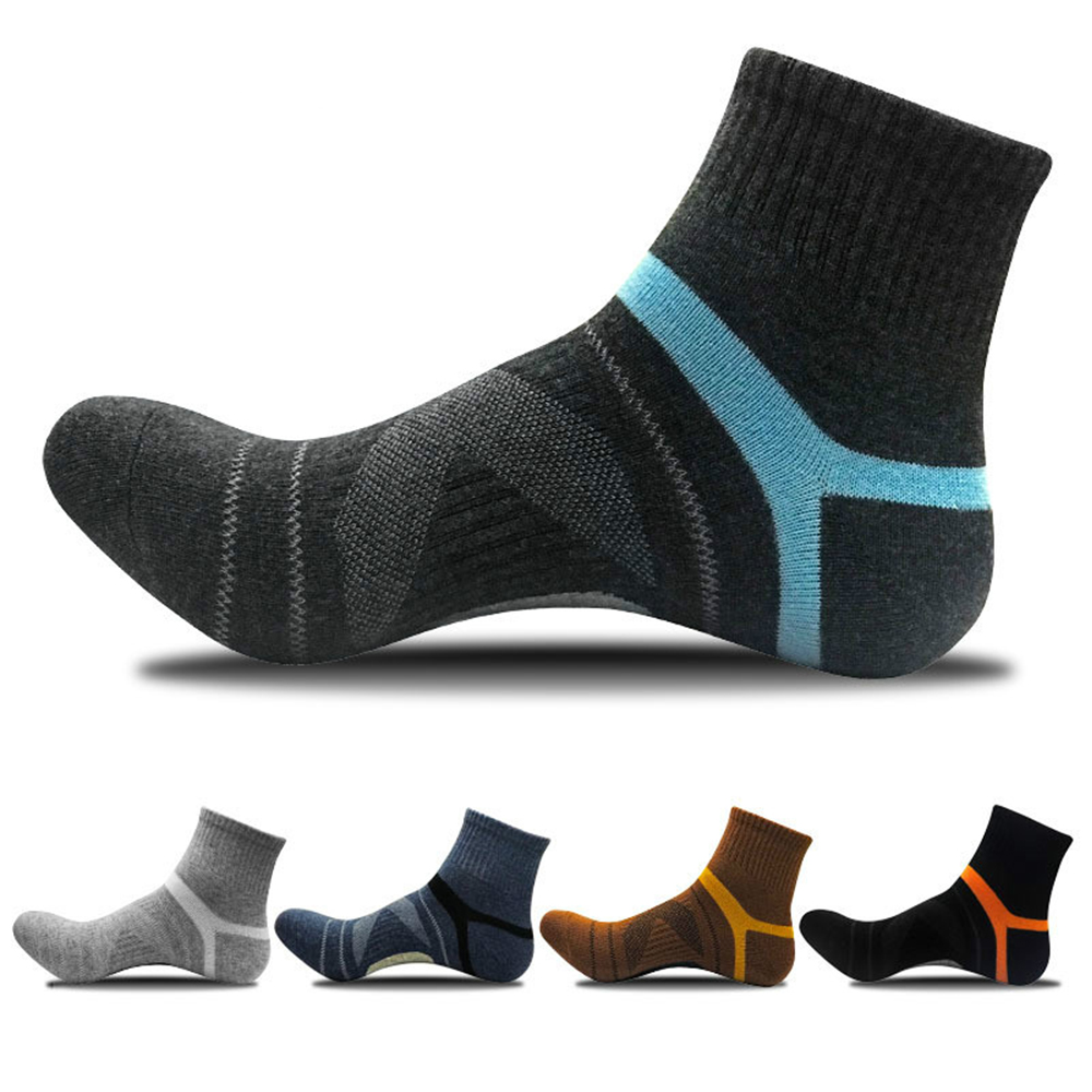 Men's Compression Socks Men Wool Black Ankle Cotton Bottom Socks Outdoor Sports Basketball Men's socks