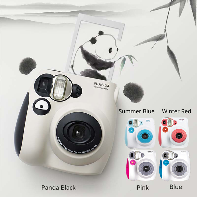 100% Authentieke Fujifilm Instax Mini 7 S Instant Photo Camera, Werken Met Fuji Instax Mini Film, goede Keuze Als Aanwezig/Gift