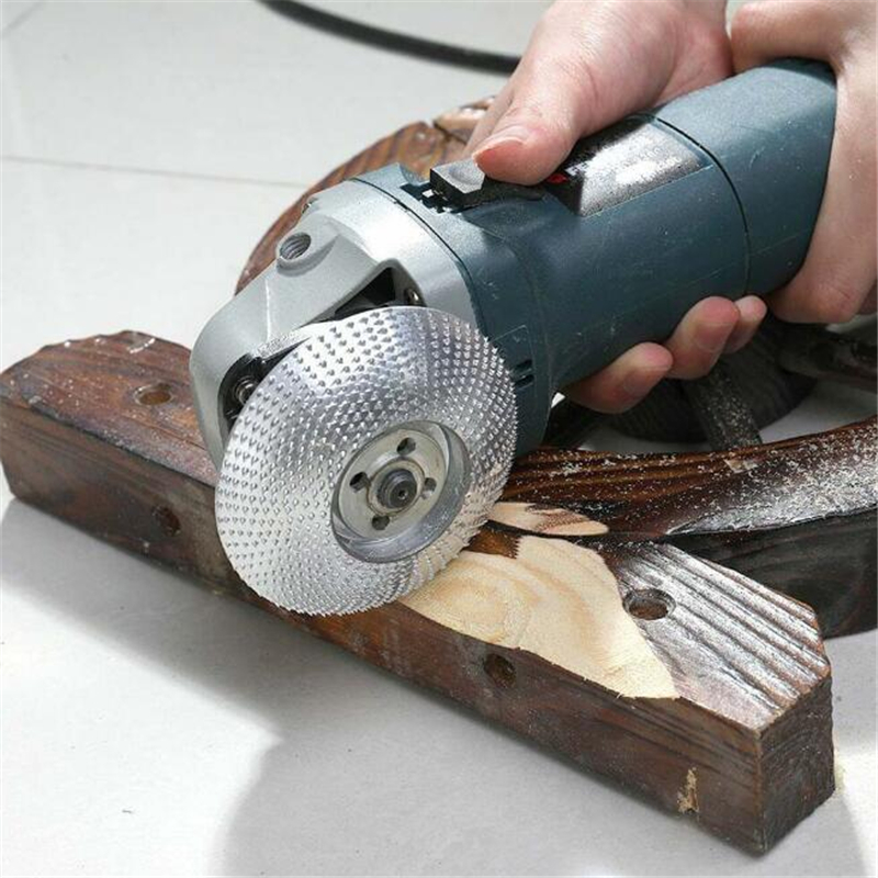 Wood Grinding Wheel Angle Grinder Disc Wood Carving Sanding Grinding Wheel For Angle Tungsten Carbide Coating Bore Shaping 1PC