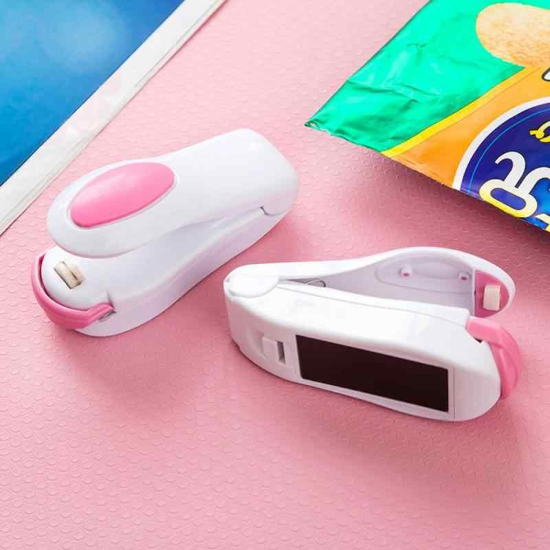 נייד חום אוטם פלסטיק חבילה אחסון תיק מיני איטום מכונת שימושי מדבקת וחותמות עבור מזון חטיף מטבח אבזרים