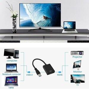 Image 4 - USB 3.0 do wejście HDMI konwerter kabel Adapter USB do HD zewnętrzna karta graficzna wielu Adapter monitora dla Windows 7/8/10 laptopa