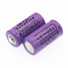 3.7V2700mAh Rechargeable 3.7V Li-ion 16340 Batteries CR123A Battery LED Flashlig