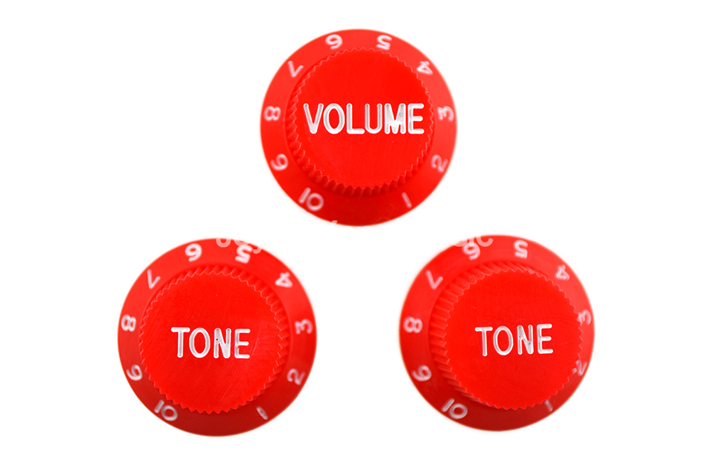 Niko Red 1 Volume & 2 Tone/Lot Electric Guitar Control Knobs For Strat Style Electric Guitar Free Shipping Wholesales