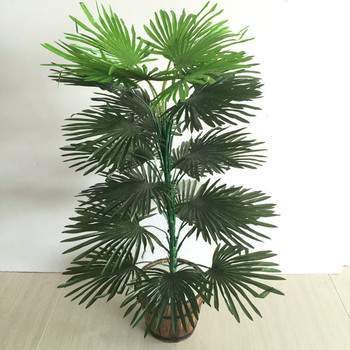80cm 30 Heads Artificial Tropical Palm Tree rare Fake Plants Indoor Silk Leaf Potted Hotel Office Living Room Home Decor