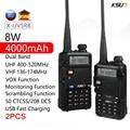 2 шт. KSUN UV5R B двухстороннее радио УКВ 136-174 & 400-520 МГц трансивер 8 Вт ультрафиолетовая 5R UV-5R иди и болтай Walkie Talkie