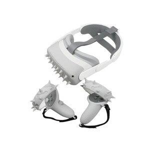 Image 5 - الغطاء الواقي VR شل ل كوة كويست 2 تحكم السيطرة يغطي سيليكون واقي الوجه ل كوة كويست 2 الملحقات