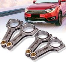 Geschmiedet 4340 Pleuel mit ARP Schrauben Für VW Golf MK4 für Gti 1,8 T 2,0 L H-strahl conrod 144mm Pleuel Bielle Schwimm Kolben