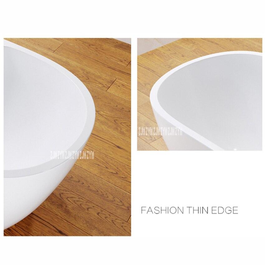 6305 1.5m oval autônomo banheira de fibra de vidro acrílico tipo piso moderno casa banho banheira com torneira ferragem parte-3