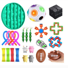 Dropshipping Fidget Toys 20/21/22/24PCS Pack Sensory Toy Set Antistress Relief Autism Anxiety Anti Stress Bubble for Kids Adults