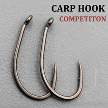 20PCS/Lot Carp fishing PTFE coating barbed hooks Japan Brand quality chod hair rigs hooks for competition Accessory