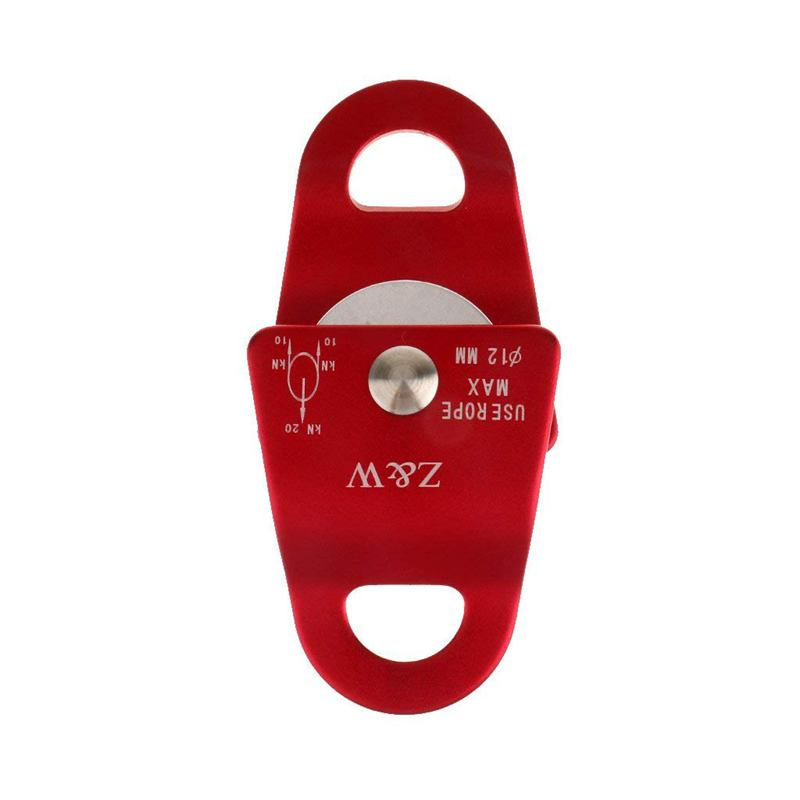HLZS-Aluminum Alloy 20 KN Universal Use Small Mobile Pulley For Climbing Rope 12mm