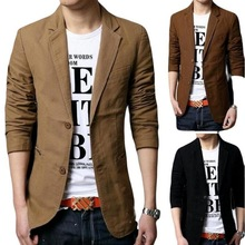 Mens Casual Blazers Leisure Suit Men Slim Fitted Male Blazers Single Breasted men coat Terno Masculino Plus Size