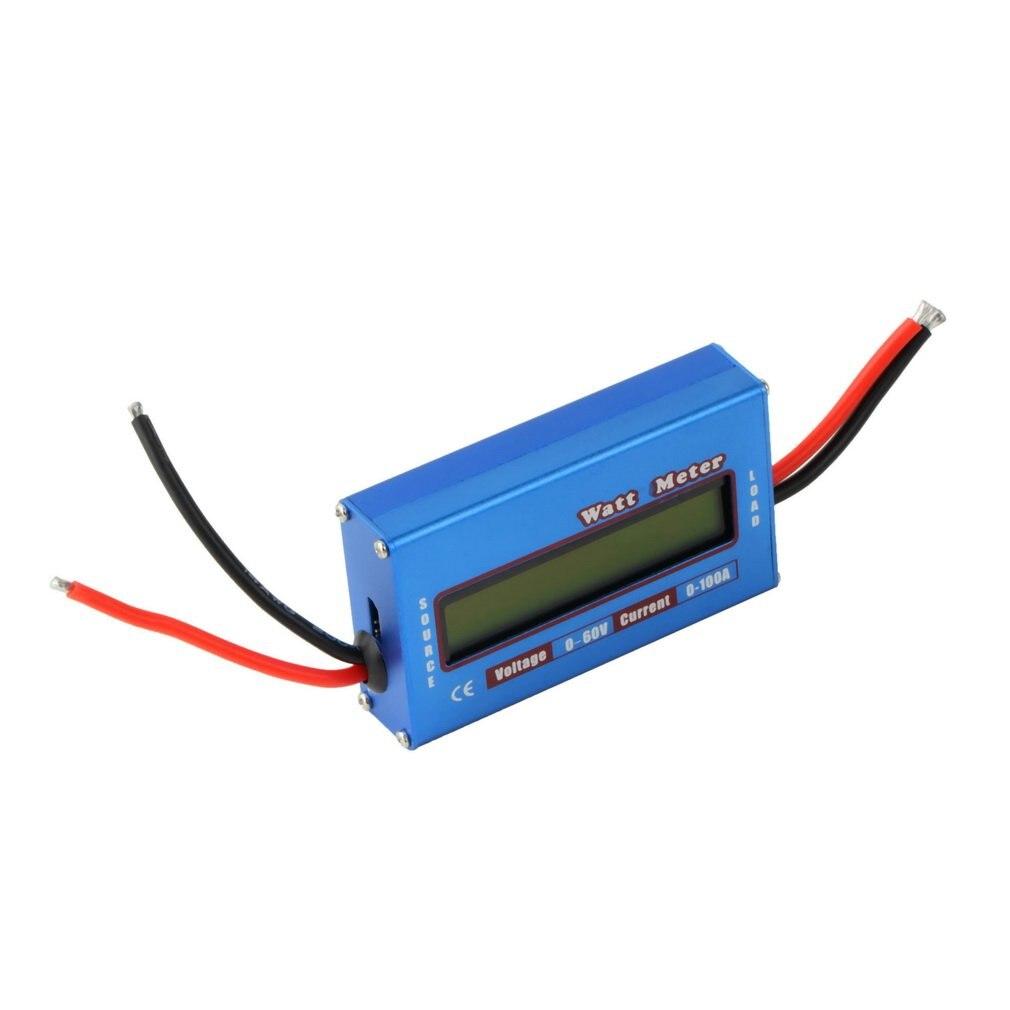 NEW 1Pcs Digital Wattmeter High-accuracy Power Meter DC 60V 100A RC Watt Meter Checker Balance Voltage Battery Power Analyzer T