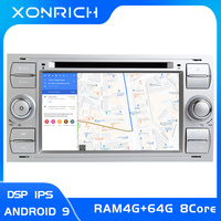 IPS DSP 2 din Android 9 Car Radio Multimedia For Ford Focus 2 3 mk2 Mondeo 4 Kuga Fiesta Transit Connect S MAXC MAX 8 Core4G 64G
