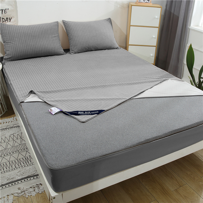 New Six Sides All Inclusive Quilted Bed Mattress Protector Waterproof Mattress Cover Solid Color Mattress Pad Cover