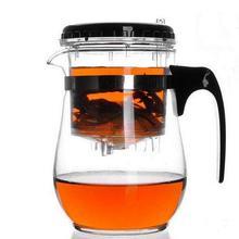 500 мл термостойкий стеклянный чайник, цветочный Чайник Пуэр, чайник для кофе, удобный офисный чайный набор Gongfu