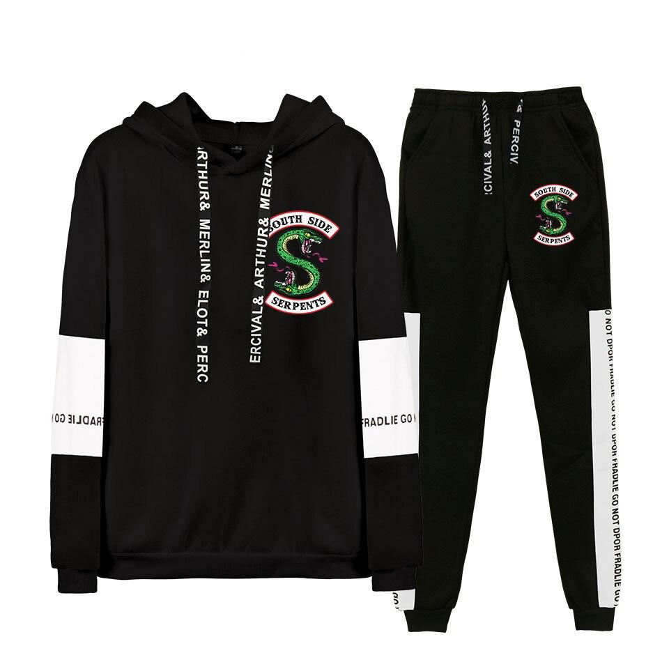 Riverdale Hoodies Suit Men/women2019 NEW 3D/Polyester Hoodie Sweatshirt Spring Autumn Male/ladies Casual Bike Hoodies Set
