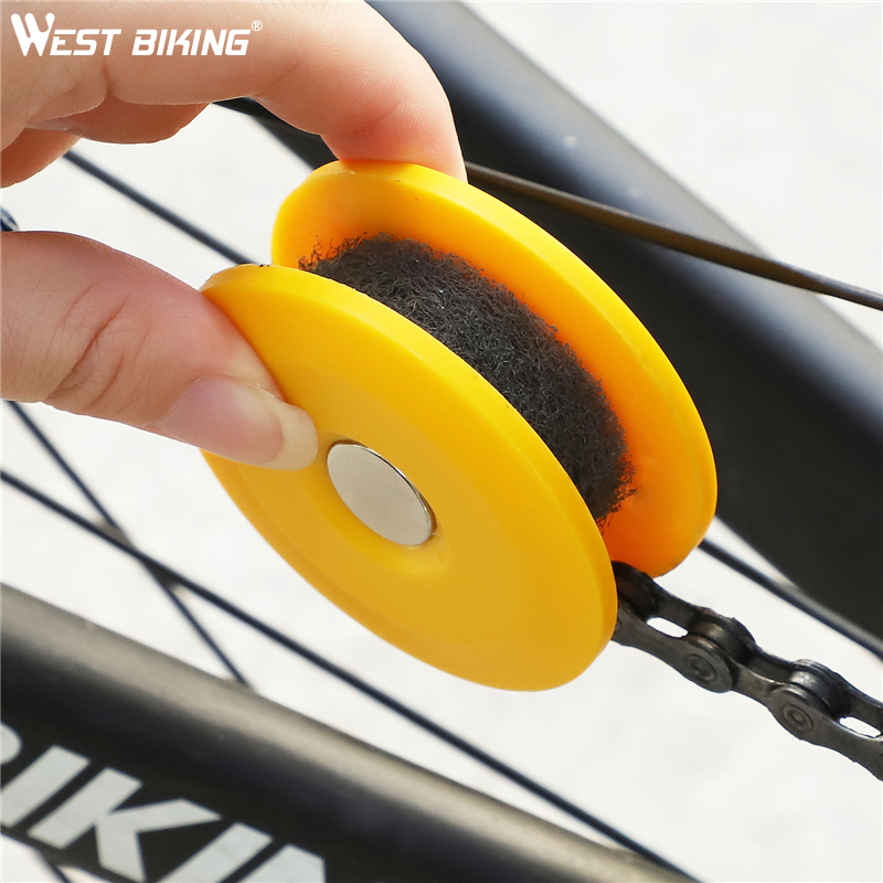 WEST BIKING Bike Chain Tool To Wipe Oil Lubricate Gear Roller Cycling Maintenance Gadget Repair Tools MTB Road Bike Accessories