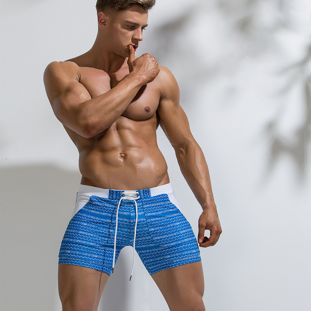 2019 New Style Fashion Printed Hot Springs Short Swimming Trunks Sports Seaside Quick-Dry Large Size Swimming Trunks