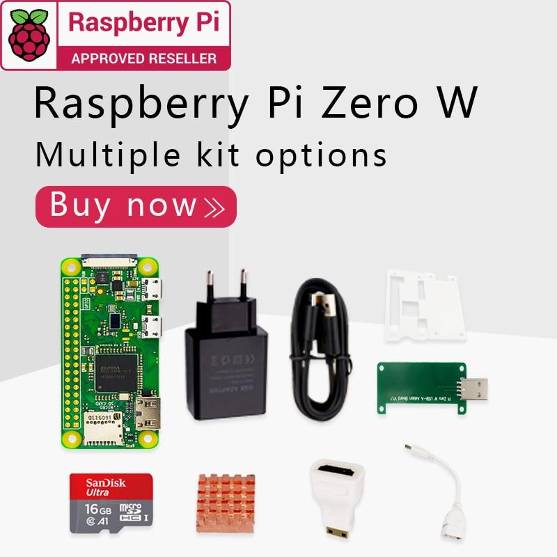 Raspberry Pi Zero W DEV Kit 1GHz single-core CPU 512MB RAM 2.4G WiFi Bluetooth 4.1 Bundle include Case MINI HDMI uUSB Cable(China)