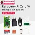 Raspberry Pi Zero W DEV Kit 1 ГГц одноъядерный процессор 512 МБ ОЗУ 2,4 ГБ WiFi Bluetooth 4,1 комплект включает чехол мини HDMI uUSB кабель