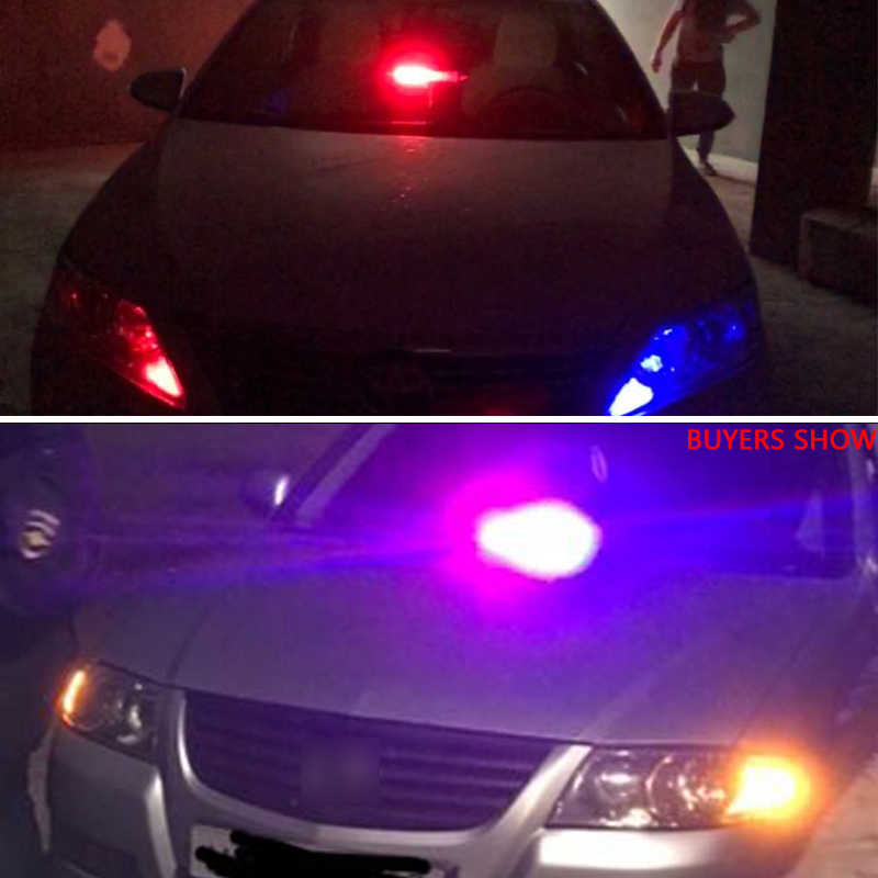 PMFC cc 12V 8LED coche luz LED policía estroboscópica luz Dash ventosa de emergencia advertencia 3 luces antiniebla intermitentes rojo/azul amarillo azul