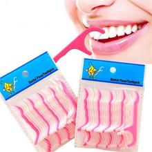 Disposable Dental Floss Sticks Plastic Floss Wholesale 20 Sticks Interdental Brush Oral Cleaning Care Tools cheap plastic+nylon thread Adults 897018 7 5*1 5cm dental lab