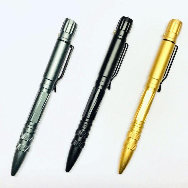 PROTECCIÓN PARA MUJER Multi-funcional. Acero y tungsteno. Defensa táctico pluma de luz LED defensiva