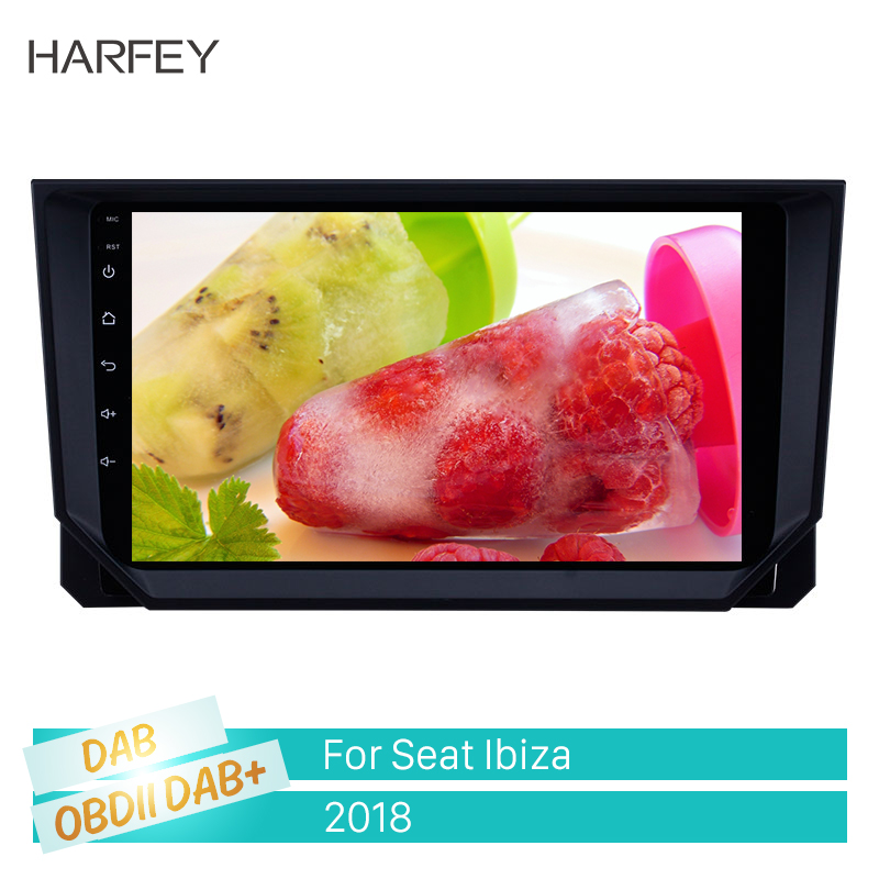 Harfey GPS <font><b>Radio</b></font> Car Carplay Multimedia player 9 inch Android 8.1 for <font><b>2018</b></font> <font><b>Seat</b></font> <font><b>Ibiza</b></font> with Bluetooth USB WIFI support TPMS DVR image