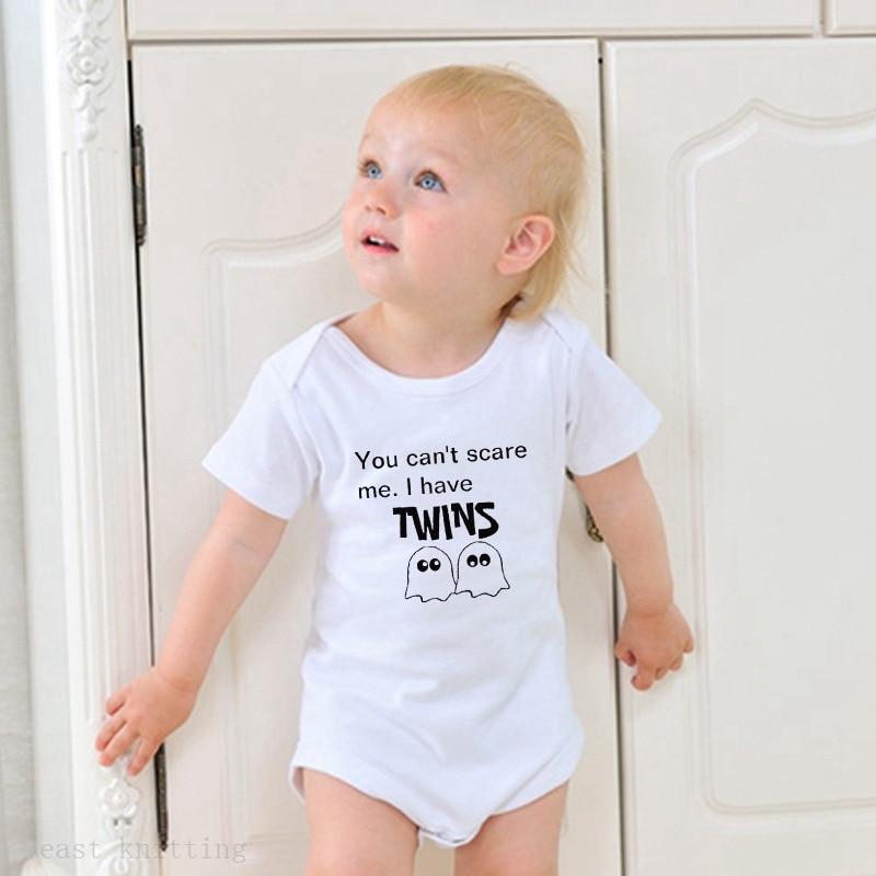 Romper do bebê terno letras impressas moda euramerican gola redonda manga curta subir roupas
