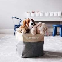 Складная корзина для хранения белья из хлопка в европейском