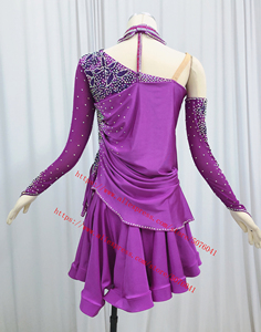 Image 3 - Latin Dance Skirt Adult High Quality Stage Tango Rumba Samba Costume Ladys Latin Competition Dancing Dress